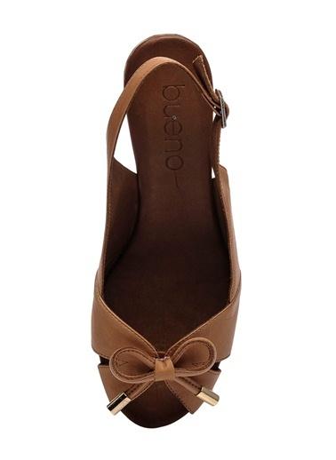 %100 Deri Dolgu Topuk Ayakkabı-Bueno